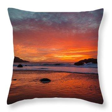 Orange Glow Throw Pillow