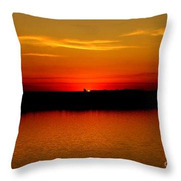 Orange Glow Throw Pillow by Lori Tordsen