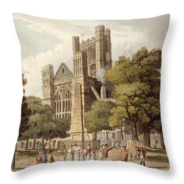 Orange Grove, From Bath Illustrated Throw Pillow by John Claude Nattes
