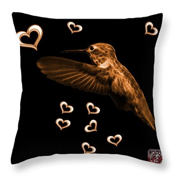 Orange Hummingbird - 2055 F M Throw Pillow