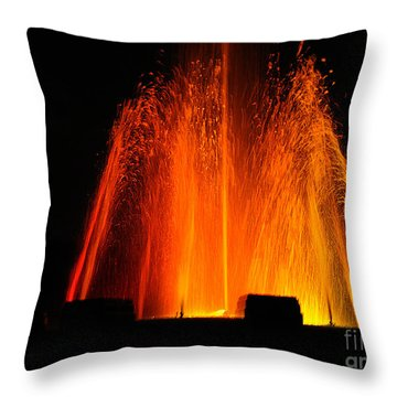 Throw Pillow featuring the photograph Orange Lava by Clayton Bruster