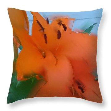 Orange Lily Throw Pillow