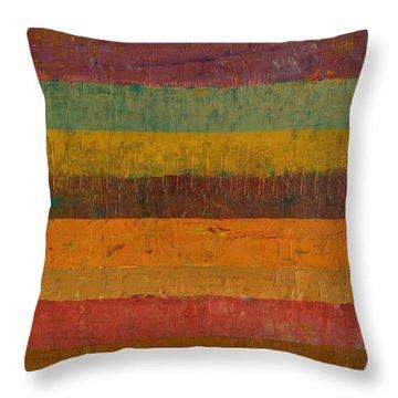 Orange Line Throw Pillow by Michelle Calkins