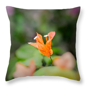 Orange Love Throw Pillow