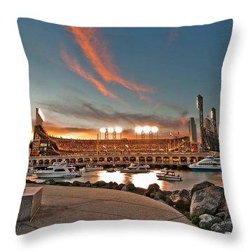 Orange October 2012 Celebrates The San Francisco Giants Throw Pillow
