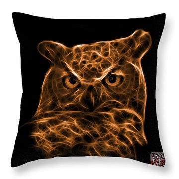 Orange Owl 4436 - F M Throw Pillow by James Ahn