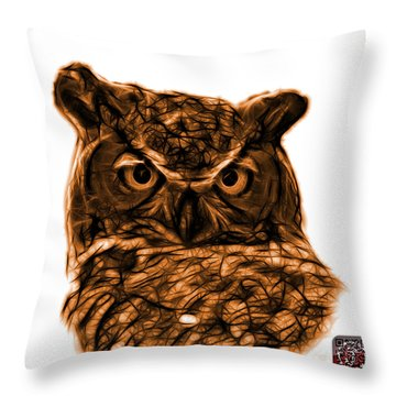 Orange Owl 4436 - F S M Throw Pillow