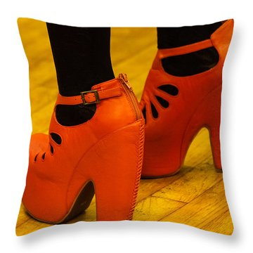 Orange Pair Throw Pillow