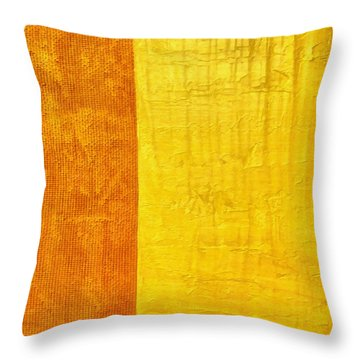 Orange Pineapple Throw Pillow