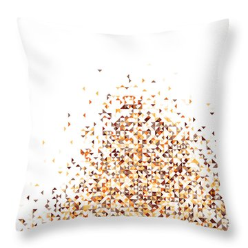 Orange Pixels Throw Pillow
