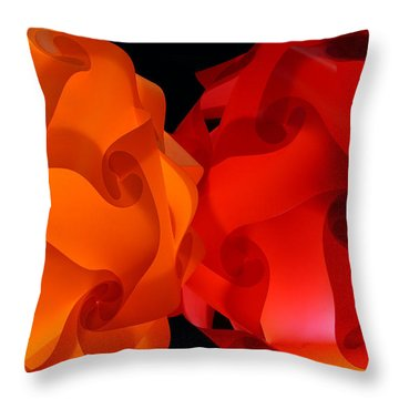 Orange Red-orange Throw Pillow