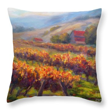 Orange Red Vines Throw Pillow