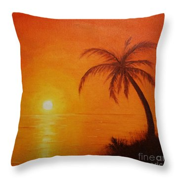 Orange Reflections Throw Pillow
