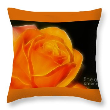 Orange Rose 6308 Throw Pillow by Gary Gingrich Galleries