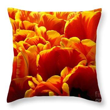 Orange Sea Throw Pillow by Lauren Leigh Hunter Fine Art Photography