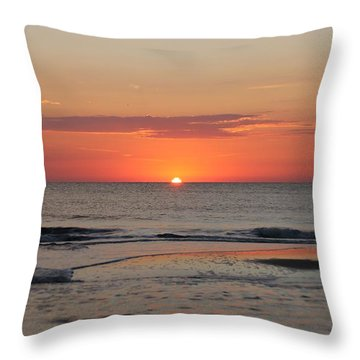 Throw Pillow featuring the photograph Orange Sky Dawn by Robert Banach