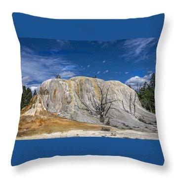 Orange Spring Mound Yellowstone National Park Throw Pillow