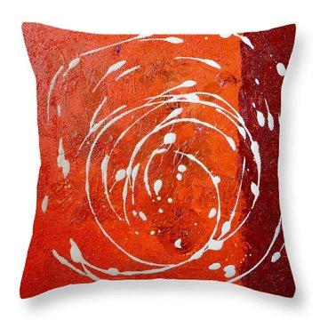 Orange Swirl Throw Pillow