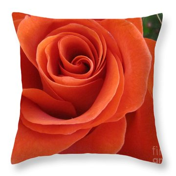 Orange Twist Rose 2 Throw Pillow