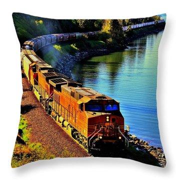 Orange Workhorse Throw Pillow