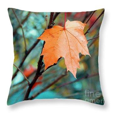 Orange You Gonna Fall Throw Pillow