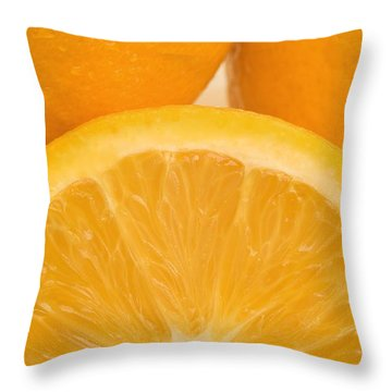 Oranges Throw Pillow by Darren Greenwood