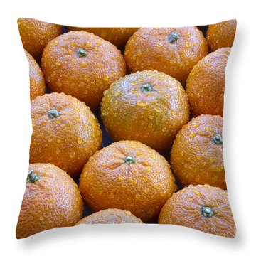 Oranges Throw Pillow by James BO  Insogna