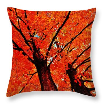 Orange...the New Green Throw Pillow
