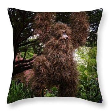 Orangutan Throw Pillow by Joan Carroll