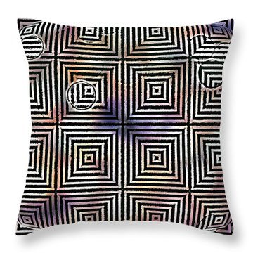 Orb Throw Pillow by Cynthia Lagoudakis