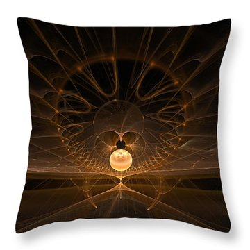 Throw Pillow featuring the digital art Orb by GJ Blackman