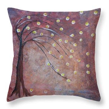 Orb Oak Throw Pillow
