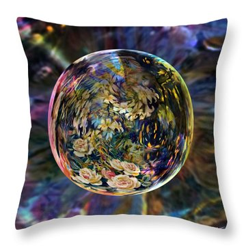 Orb Of Roses Past Throw Pillow