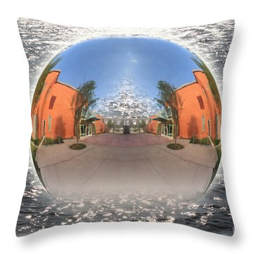 Orb On The Water Throw Pillow