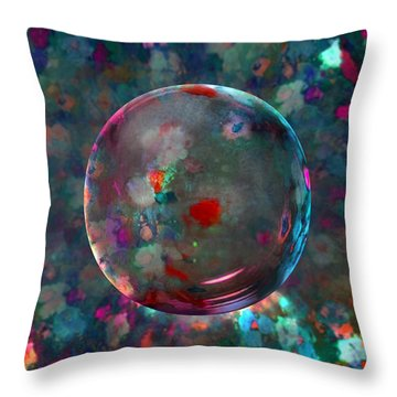 Orbed In Spring Blossom Throw Pillow