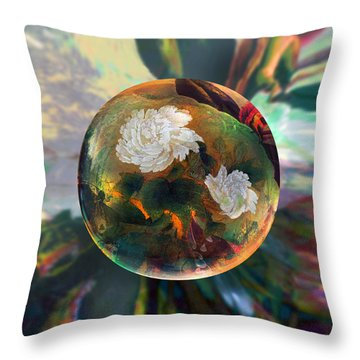 Throw Pillow featuring the painting Oriental Abstract  by Robin Moline