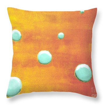 Orbs In Space 2 -- Inverted Colors Throw Pillow