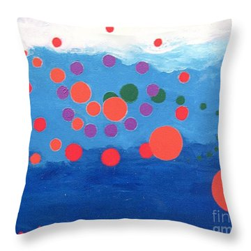 Orbs Under Water Throw Pillow