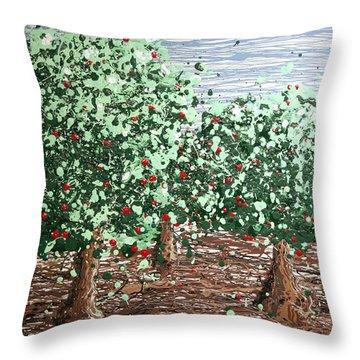 Orchard 4 Throw Pillow by Ric Bascobert