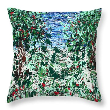 Orchard Number Five Throw Pillow by Ric Bascobert