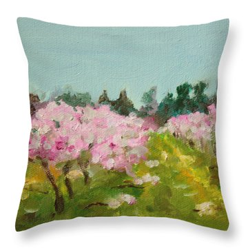 Orchard Throw Pillow by Sarah Lynch