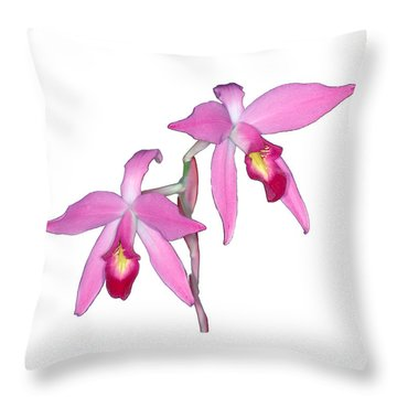 Orchid 1-1 Throw Pillow