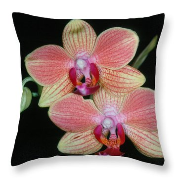 Orchid 4 Throw Pillow