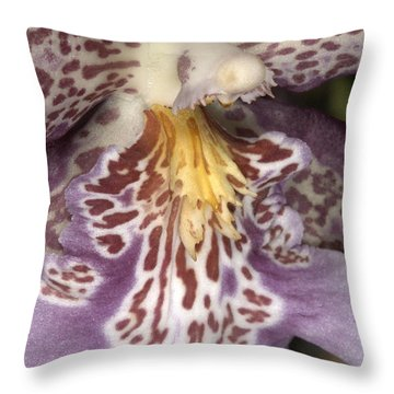 Orchid 483 Throw Pillow
