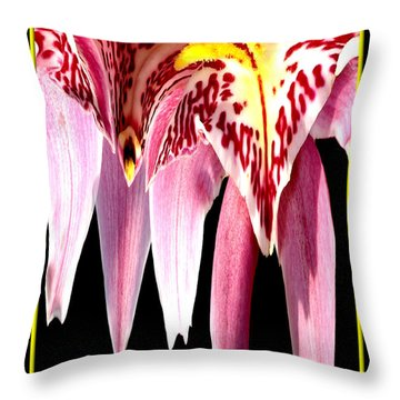 Orchid Abstract Throw Pillow by Rose Santuci-Sofranko
