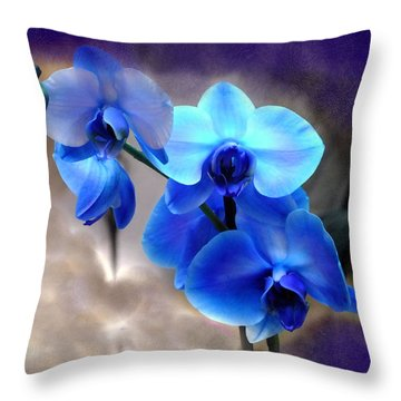 Throw Pillow featuring the photograph Orchid Art by Wendy McKennon