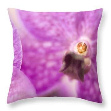 Throw Pillow featuring the photograph Orchid by Bradley R Youngberg