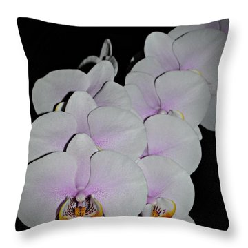 Orchid Bunch Throw Pillow