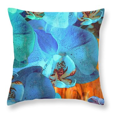 Orchid Cascade Throw Pillow