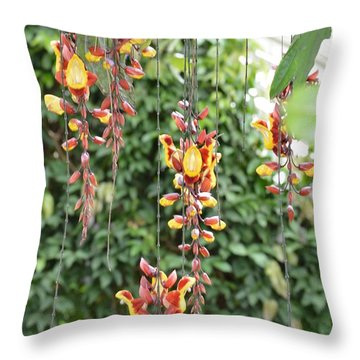 Orchid Falls Throw Pillow by Sonali Gangane